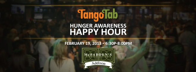 TangoTab Hunger Awareness Happy Hour