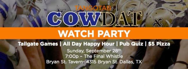 Cowboys and Saints Watch Party