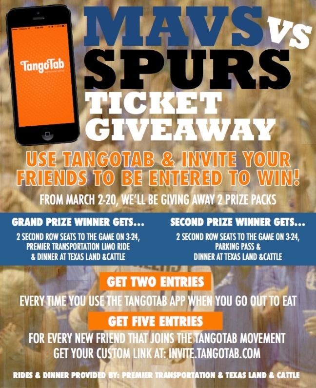 Mavs vs Spurs Ticket Giveaway